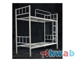 Металлические двуспальные кровати, разборные конструкции сеток и спинок