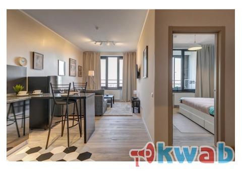 Сдается ПОСУТОЧНО 2х комнатная квартира бизнес-класса на 39 этаже рядом с м. Дмитровская