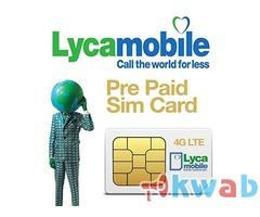 Сим карта Англии для приема СМС Lebara, Three, Lycamobile, Vodafone, О2, ЕЕ.