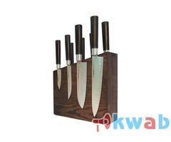 Дизайнерская подставка для 8-ми ножей из дерева