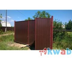 Установка ворот и заборов, услуги сварщика на даче