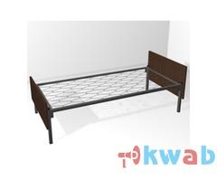 Прочные кровати металлические одноярусные со сварными сетками
