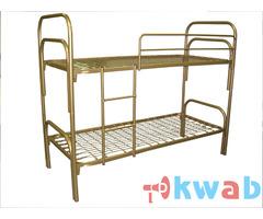 Двухъярусные кровати металлические в детские оздоровительные лагеря