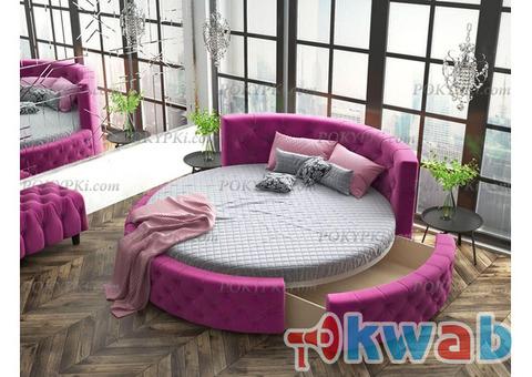 Круглая кровать «Аркада» с ящиком