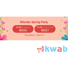 Last 2 Days to Snap up 7% Off RS 07 Gold in RSorder Spring Party
