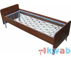 Кровати металлические с ДСП спинками престиж